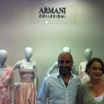 Showroom de Armani. Setlan Colección Primavera Verano 2013