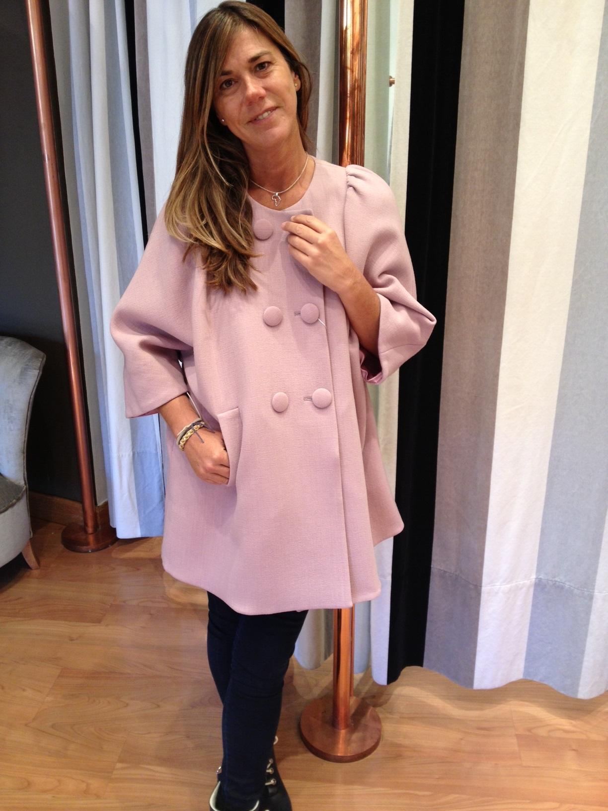 Abrigo Rosa Pastel Setlan moda mujer otoño invierno 2013-14